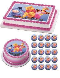 winnie pooh 2 edible birthday cake or cupcake topper u2013 edible