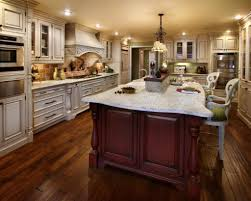 kitchen creative red cherry wood kitchen cabinets home interior