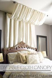 Curtains For Canopy Bed Use A Curtain Rod And A Table Cloth For A Cheap Antoinette