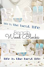 Decorative Letter Blocks For Home Beach Letter Set Home Made Interest