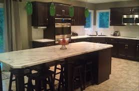 sleek new construction kitchen using homecrest cabinets formica
