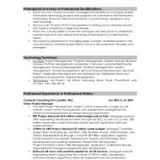 example summary of qualifications statement resume section