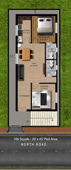 19 Luxury 20 X 45 House Plans East Facing Pitterpatterdesignsinfo