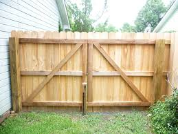 fence backyard ideas delighful wood fence double gate h inside design inspiration
