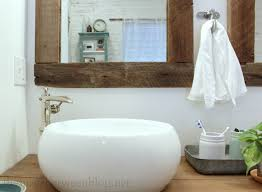 Framed Bathroom Mirrors Ideas Upcycling Idea Diy Reclaimed Wood Framed Mirrors Bathroom