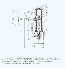 zw32 24 type outdoor h v vacuum circuit breaker vcb breaker parts