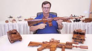 Wooden Designs by Handcrafted Mahogany Wood Gun From Premium Wood Designs Youtube