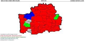 area code map of michigan western michigan telecom michigan