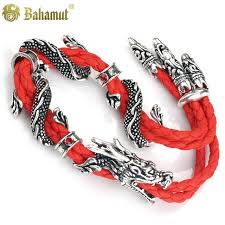 dragon leather bracelet images Bahamut the sasang sacred cloud rider lucky red dragon leather jpg