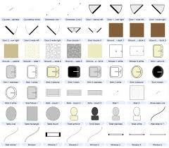 Symbol For Window In Floor Plan by Cool 50 Architecture Floor Plan Symbols Decorating Design Of Plan