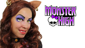 Halloween Costume Monster High by Clawdeen Wolf Monster High Makeup Tutorial Youtube