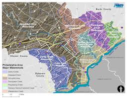 map of philly find your watershed philadelphia water department