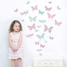 28 butterfly wall stickers large flying butterfly vine butterfly wall stickers children s butterfly fabric wall stickers by koko kids