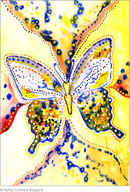 watercolor butterflies dragonflies paintings kathy canfield