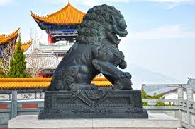 lion dog statue foo dogs fu dogs guardian lions