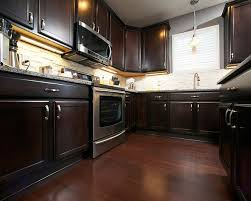 wood floors with chocolate maple cabinets wood floors