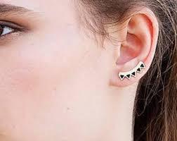 ear pin ear pin earrings etsy