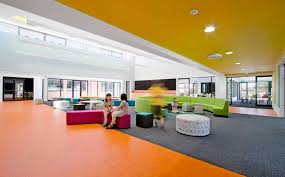 cool class room colorful interior design for college
