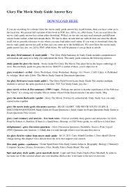 glory the movie study guide answer key