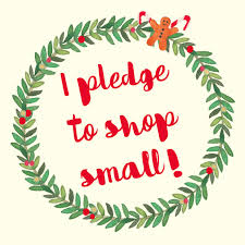 small christmas i pledge to shop small will you frog pencil