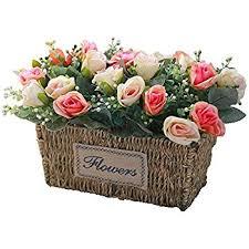 Artificial Flower Arrangements Amazon Com Nearly Natural 4665 Peony Centerpiece Silk Flower