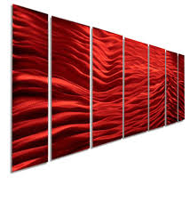 red wave ii xl extra large modern contemporary metal wall art