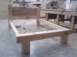 Bed Frame Joints Ryon Design Oak Beam Bed Frame Finished