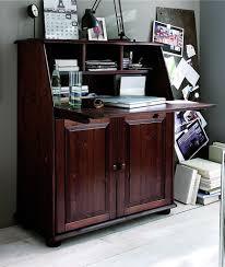 L Schreibtisch Sekretär 92x105x42cm 2 Türen 1 Klappe Kiefer Massiv