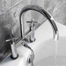 enki modern cross handle bath filler mixer taps shower bathroom