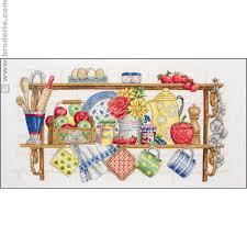 point de croix cuisine ricamo punto croce lo scaffale della cucina anchor an pce757 la