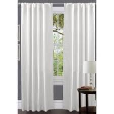 White Faux Silk Curtains Laurel Creek Twisted Tab Curtain Panel Window Panels