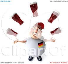 German Flag Shirt Clipart Of A 3d Chubby White Guy In A Gray German Flag Shirt