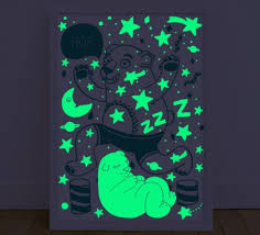 Glow In The Dark Poster | bear glow in the dark poster