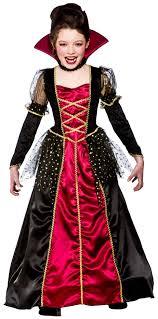 Girls Vampire Halloween Costume Child Royal Vampire Costume Girls Features Floor Length
