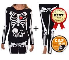 halloween maternity shirt and leggings skeleton with neutral
