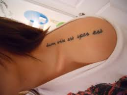 tattoo quotes about life in latin it is in latin and means while there is life there is hope