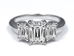 three emerald cut engagement rings engagement ring 3 emerald cut engagement ring