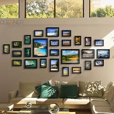 Photo Frame Ideas Black Good Wood Wall Frames Per Picture Frame Ideas 26 Pcs Set