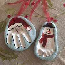 santa ornaments made from print in salt dough salt dough