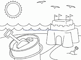 beach coloring pages preschool summer coloring pages preschool 309584