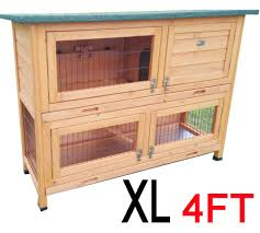 Large Rabbit Hutch With Run Roger Xl Large 4ft Rabbit Hutch 2 Tier With Fox Wire
