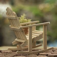 Miniature Adirondack Chair Miniature Adirondack Rocking Chair Fairy Garden Miniatures