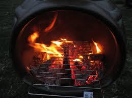 how to cook with a chiminea clay fireplace u003e hanover koi farms
