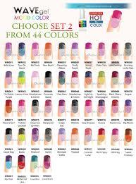 wavegel wave gel mood color set 2 changing gel polish collection