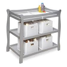 Change Table Style Badger Basket 22366 Sleigh Style Changing Table Gray