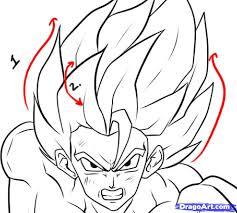 draw super saiyan step step dragon ball characters