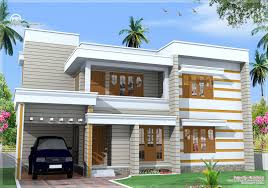 Flat Roof House Flat Roof House Exterior In 1850 Sq Feet Kerala Home Design And