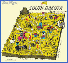 South Dakota natural attractions images South dakota map tourist attractions map travel holiday jpg