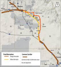 Phoenix Traffic Map by Tucson To Phoenix Passenger Rail Where U0027s The Money Azpm