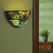 Stained Glass Wall Sconce Glass Wall Sconce Battery Operated With Remote